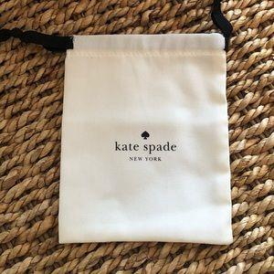 Kate Spade dust bag jewelry bag storage charms New